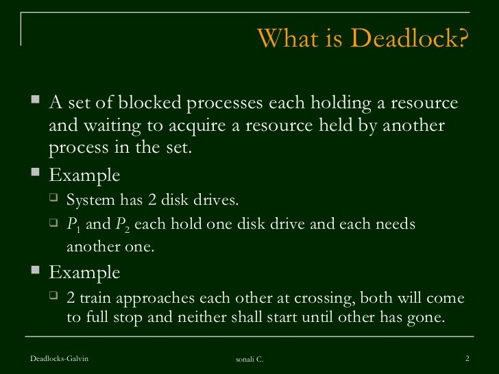 deadlock in operating system pdf