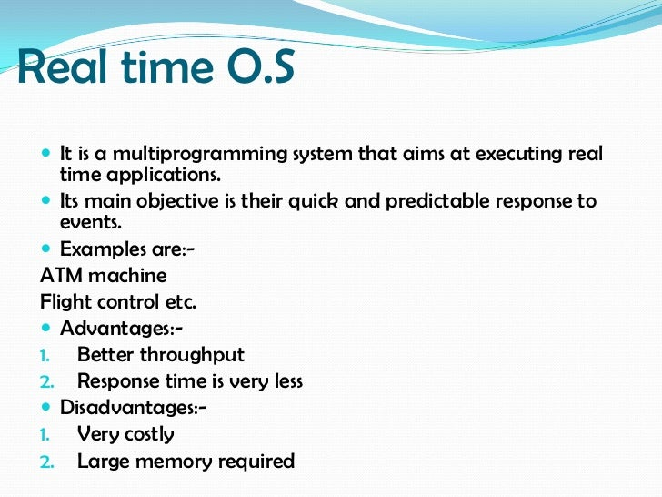 real time operating system essay