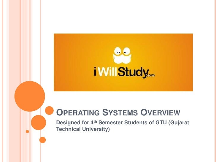 Operating Systems Overview<br />Designed for 4th Semester Students of GTU (Gujarat Technical University)<br />