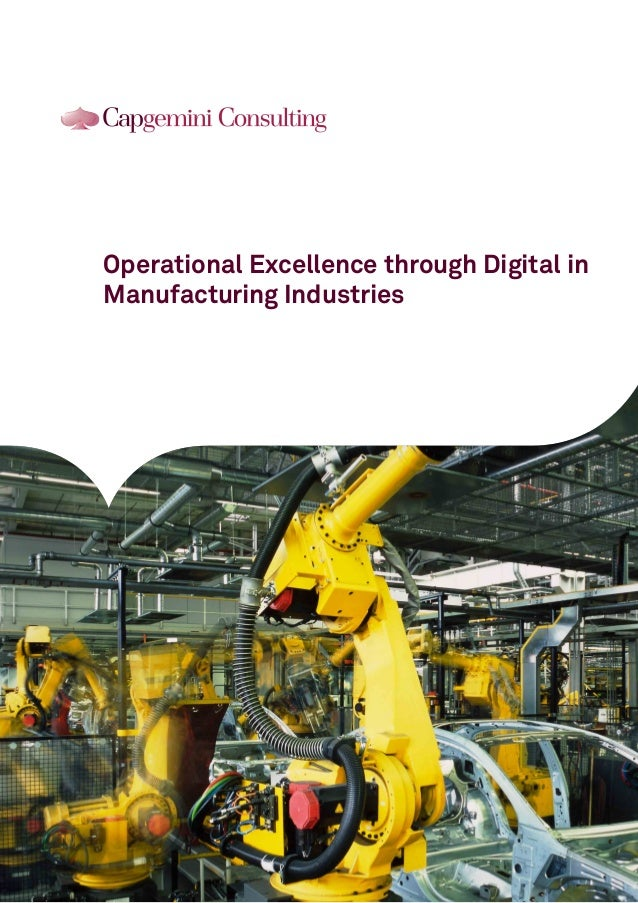 Operational Excellence through Digital in Manufacturing Industries