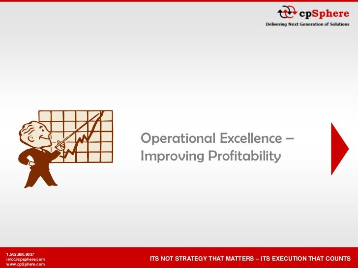 Operational Excellence –                     Improving Profitability     1.562.860.8637                      ITS NOT STRAT...