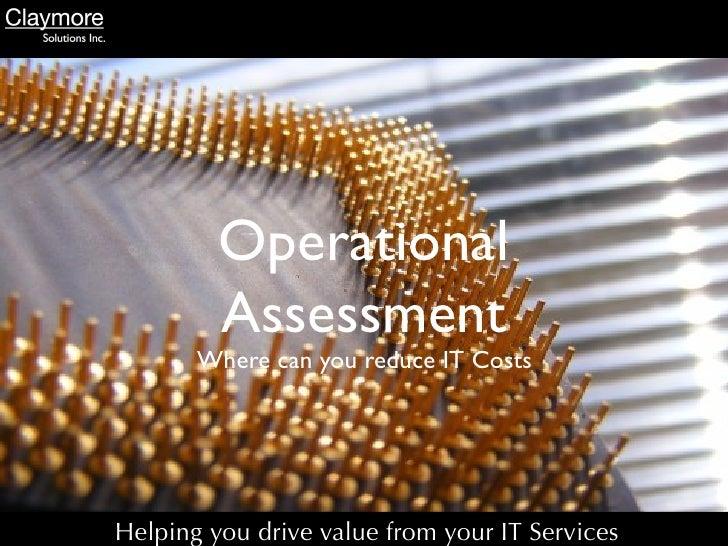 Operational Assesment