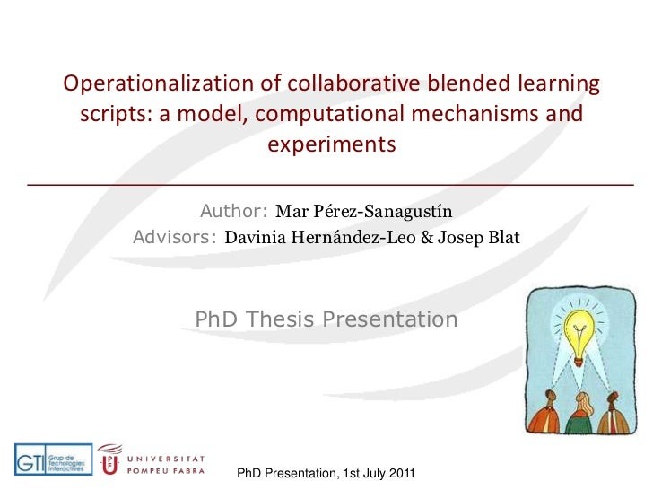 PhD Thesis: Operationalization of Collaborative Blended Learning Scripts