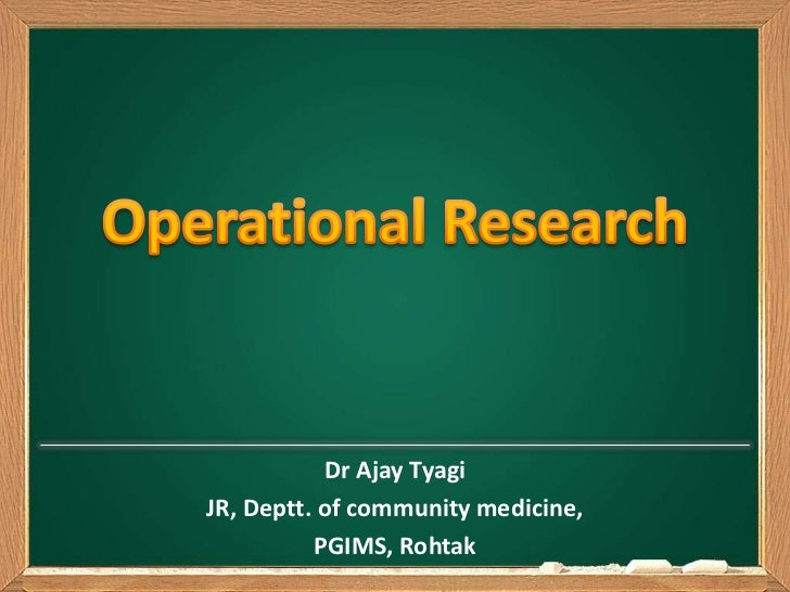Operational research dr ajay tyagi