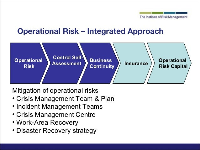 risk management and insurance operations
