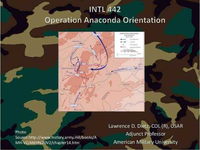 Operation anaconda orientation