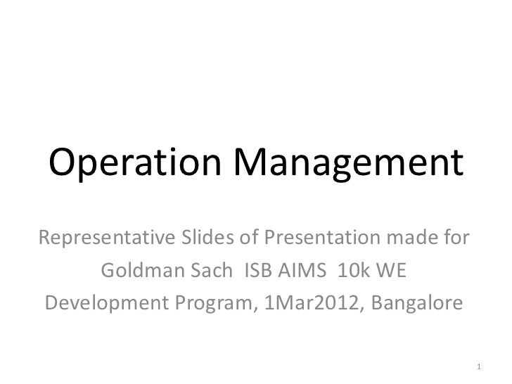 presentation in operations management essay These essays by sti students are devoted to the consideration of transformational leadership and management competences these presentations and executive summaries demonstrate the full range of research, technical analysis, leadership, and communication skills which our students master in their program.