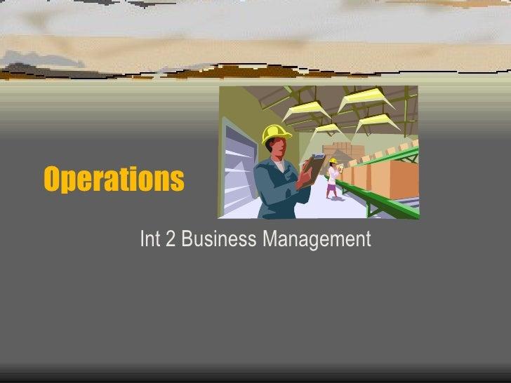 Operations Int 2