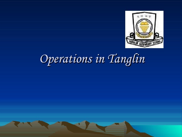 Operations in Tanglin
