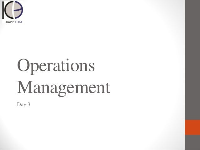 Operations Management subjects in accounting