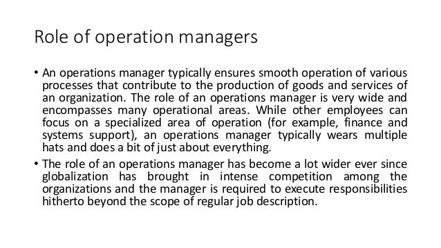 Operation management 5?