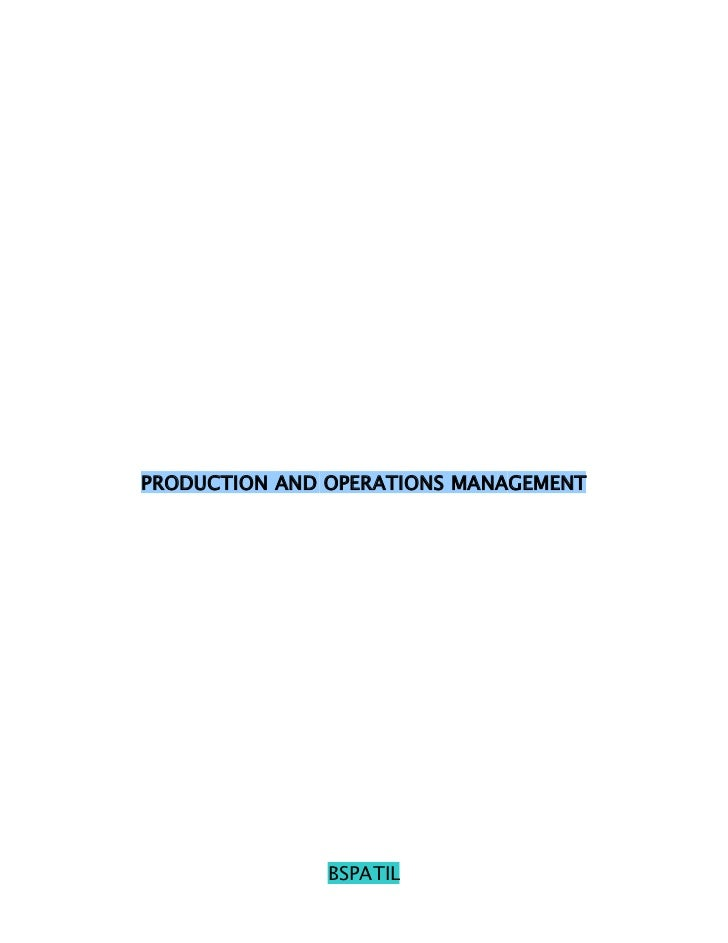 Operations management 2 nd sem mba @ bec doms