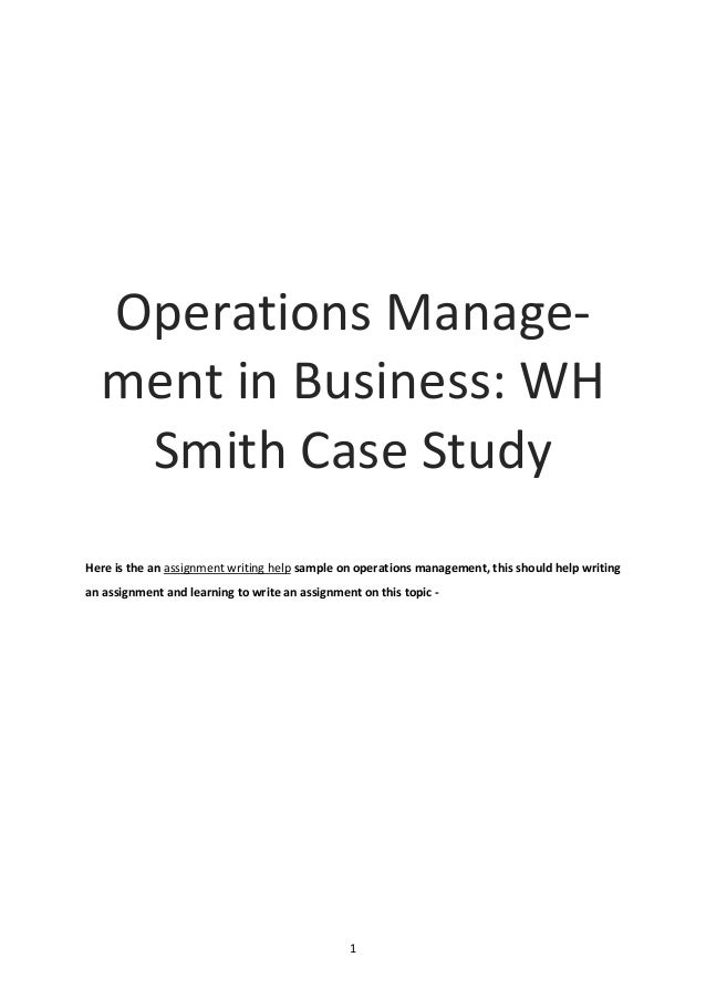 Examples List on Operations Management