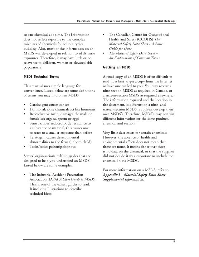 operation and maintenance manual for buildings