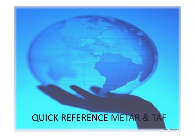 Operations metar and tafs decode