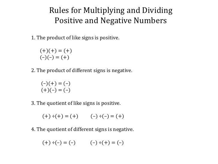 Counting Number worksheets worksheets subtracting negative – Integer Multiplication and Division Worksheet