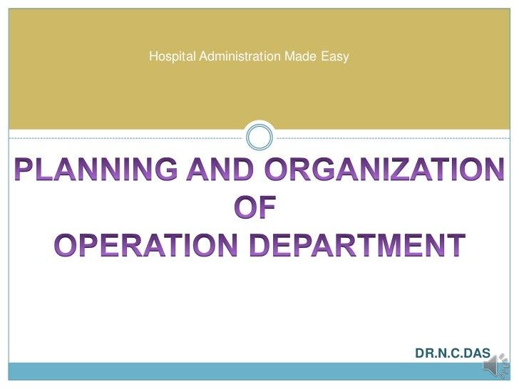 Operation theatre services
