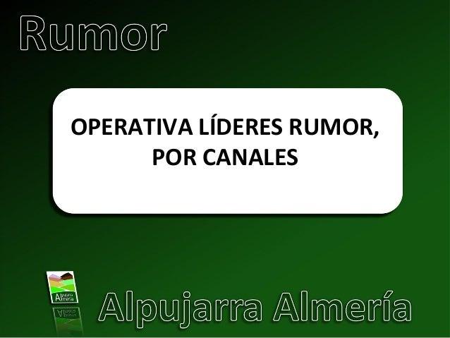 Operativa semanal lideres_rumor. Proyecto Rumor. Power point. Redes Sociales.