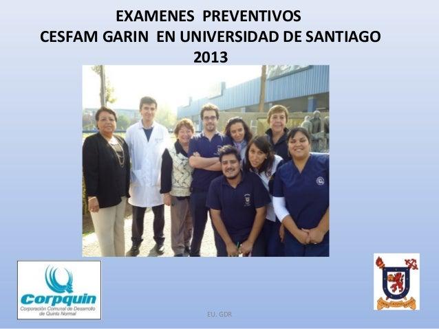 Examenes preventivos CESFAM GARIN - USACH