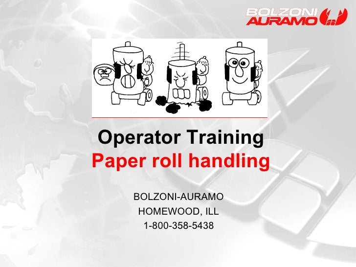 Operator Training Paper Roll Handling General
