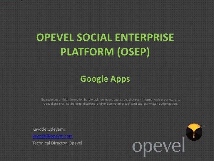 Opevel social-enterprise-platform osep-google_apps_slideshare