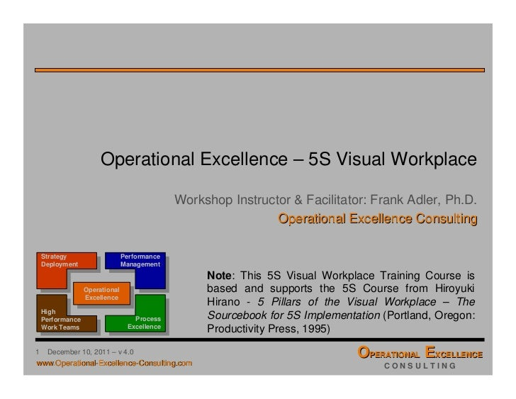 OpEx 5S Visual Workplace Training Module