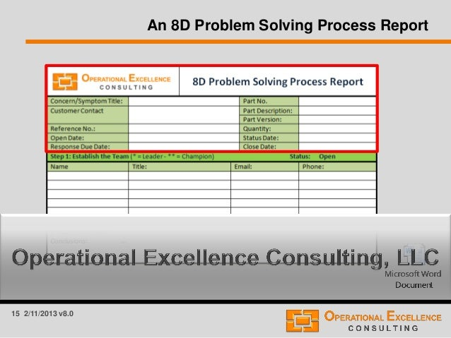 Which organizational processes support problem solving