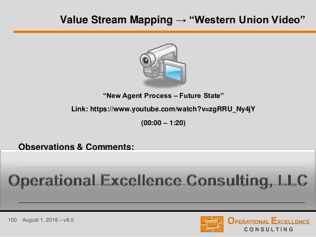 Lean value stream mapping vsm training module