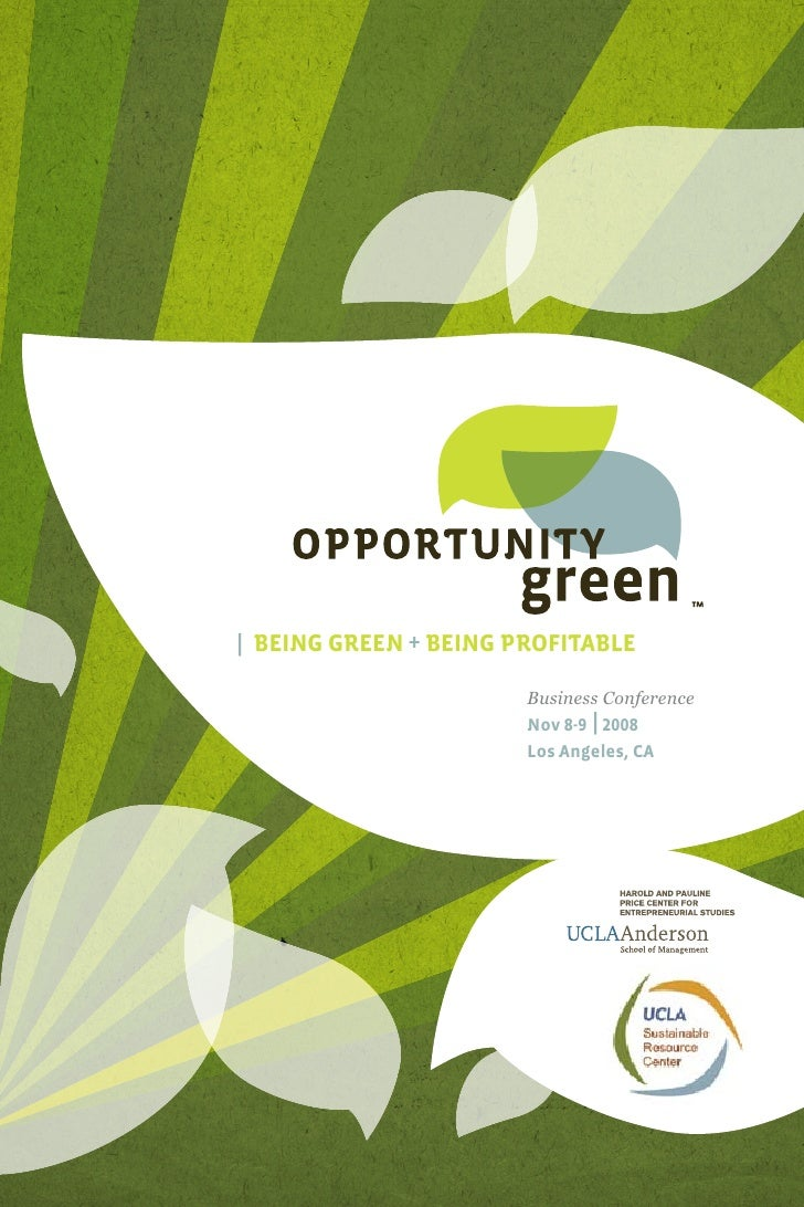 Opportunity Green Conference Program 2008