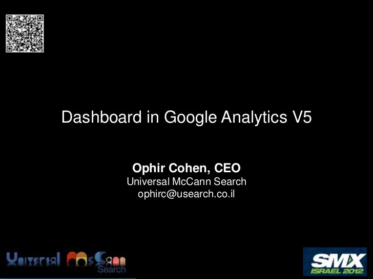 SMX Israel 2012 - Dashboard in Google Analytics
