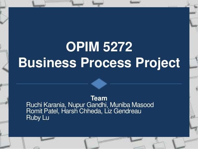 Business Process Improvement plan - SQL
