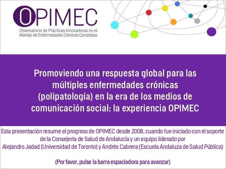 Promoviendo una respuesta global para las                  múltiples enfermedades crónicas              (polipatología) en...