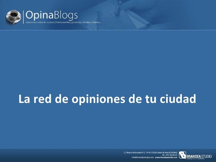 Opinablogs - presentación del proyecto para FICOD