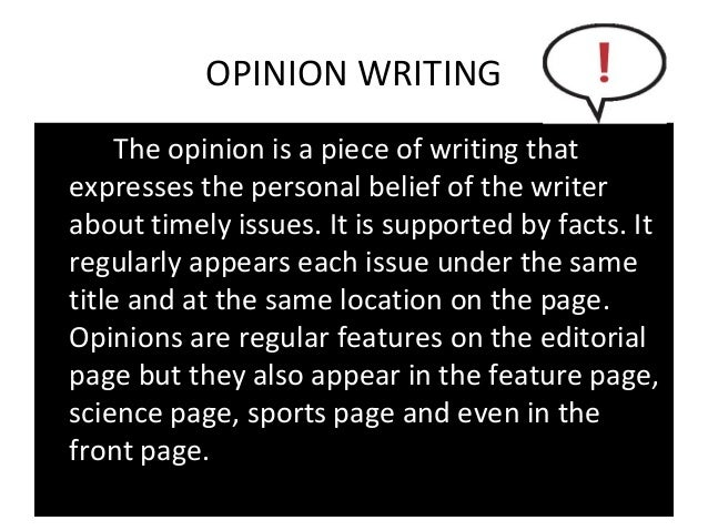 features of an opinion essay Teach students to state their opinions with these persuasive essay writing worksheets and prompts.