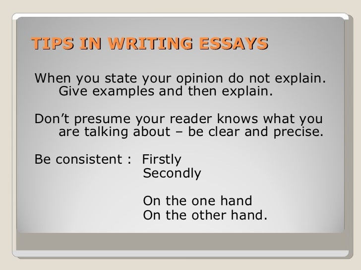 Dos and don'ts of opinion an essay?