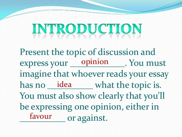 What Is A Good Topic For An Opinion Essay