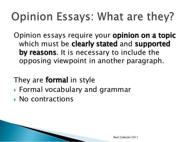 Opinion Essay Format
