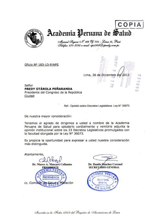 ACADEMIA PERUANA DE LA SALUD: Opiniones tecnicas 2014