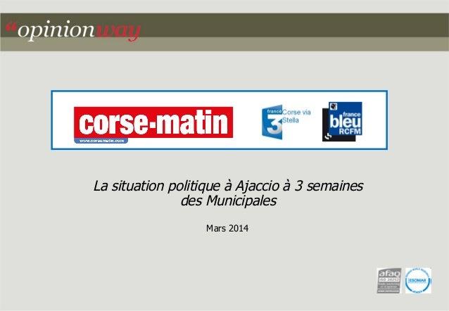 La situation politique à Ajaccio à 3 semaines des Municipales Mars 2014