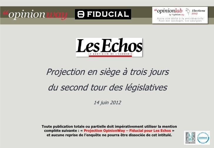 Projection en siège à trois jours   du second tour des législatives                             14 juin 2012Toute publicat...