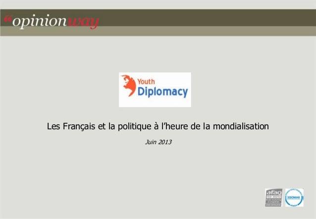 Les Français et la politique à l'heure de la mondialisation Juin 2013