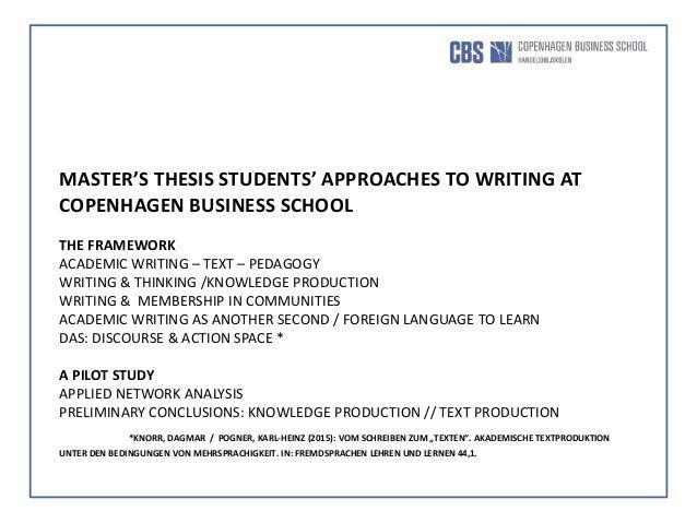 Discourse community essay thesis
