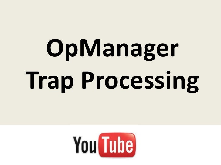 OpManager trap processing