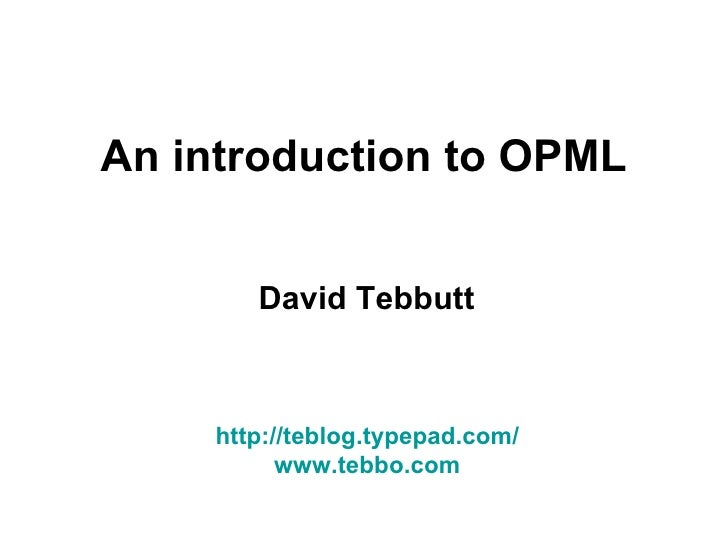 OPML: What is it?