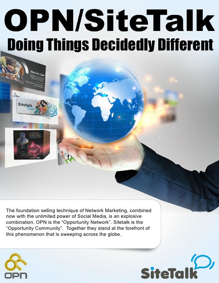Doing Things Decidedly DifferentThe foundation selling technique of Network Marketing, combinednow with the unlimited powe...
