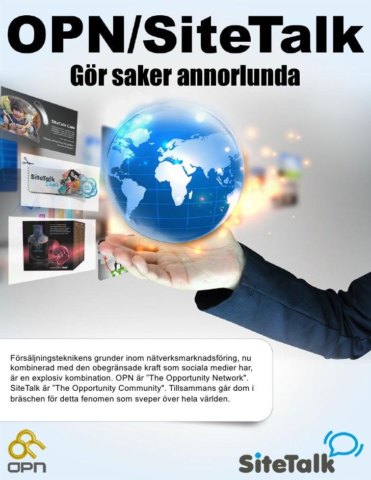 Gör saker annorlundaFörsäljningsteknikens grunder inom nätverksmarknadsföring, nukombinerad med den obegränsade kraft som ...