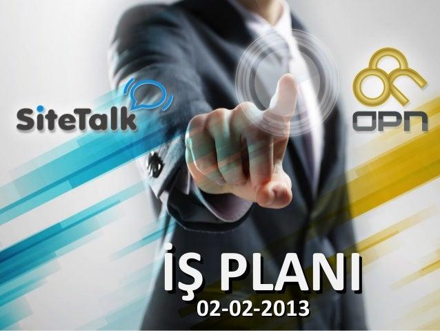 İŞ PLANIİŞ PLANI02-02-201302-02-2013