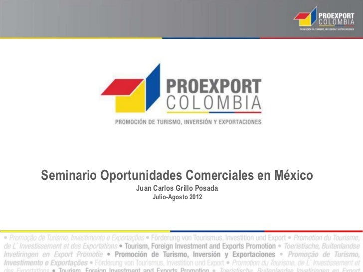 Oportunidades Comerciales en México