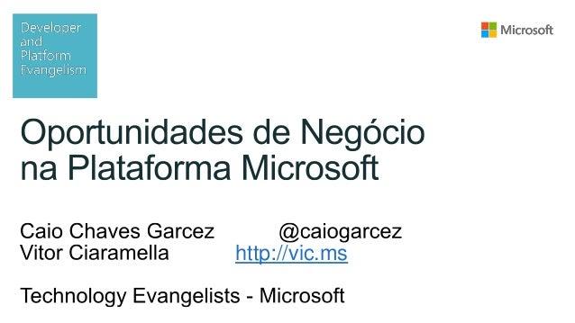 Oportunidades de negócio na Plataforma Microsoft