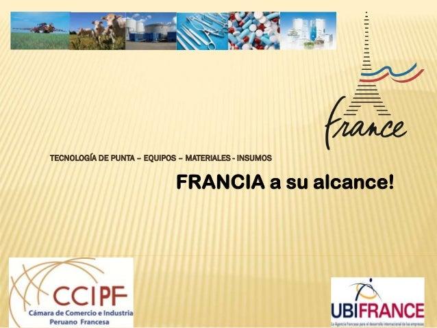 SIICEX - Oportunidades Francia 2013